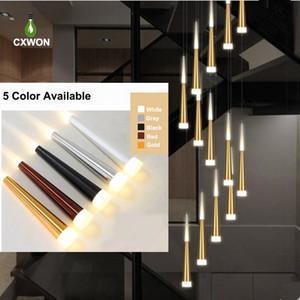 Le plus récent Light Chandelier moderne 85-265V 5 couleurs disponibles météores décoratif Plafonnier Lustre Lampe restaurant