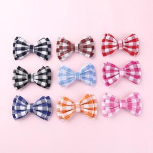 Haar Accessoires Headbands For Girls Plaid Hair Bow Clips For Kids And Children Headband Girls Diy Bows Headbands Accessories Little G G66x#
