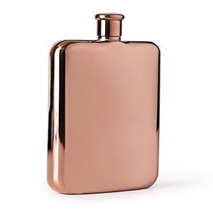 Nouvelle arrivée couleur or rose 6OZ logo personnalisé en acier inoxydable Mini Pocket Flasque Les meilleurs cadeaux pour Buveurs