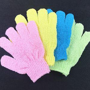 الحمام أداة متعددة الألوان قفازات حمام يكفولياتينغ غسل الجلد سبا تدليك الجسم النظيف دش قفازات رغوة حمام الجسم تنظيف قفاز DH0702 T03