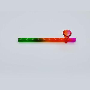 Verre Pyrex poche de brûleurs à mazout Tubes Tubes Handpipe Effacer Shaisha Hookah Water Pipe Bongs Fit Accessoires pour fumer 5 99ps E19