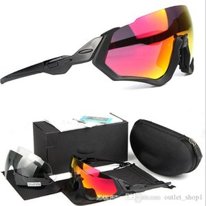Cycling Eyewear OO9401 glasses Men Fashion Polarized Flight Jacket Sunglasses Outdoor Sport bike Glasses 3 lens outdoor cycling sunglasses