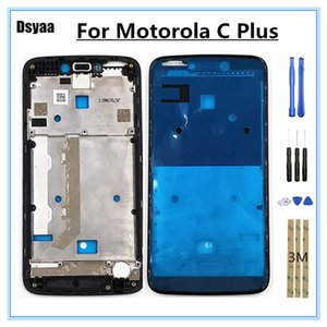 Motorola Moto C Artı için 5.0 Inç Orta Çerçeve Ön Çerçeve Konut Kapak Tutucu LCD Faceplate Araçları ile Ücretsiz Kargo