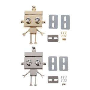 Moda Yeni Robot Şekli Toka Dönüş Kilidi Büküm Kilitler Metal Donanım DIY Zanaat Yedek Çanta Omuz Çantası Çanta Aksesuarları