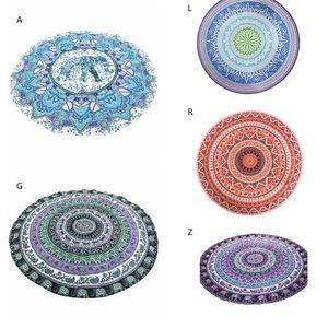 Microfiber Round Beach Towel Indian Mandala Swimming Bath Towel Printed Throw Round Mat Yoga Mat Beach Towel Blanket Decor