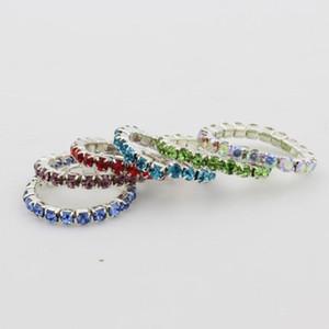 design Art 12pcs Pacote Elastic cristal colorido Toe Anéis moda de alta qualidade Lotes de várias cores Toe Body Jewelry Anel