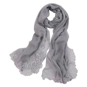 mode féminine 100% soie véritable Mulberry brodé écharpe wrap châle sarongs foulards en soie vente d'usine 180 * 110cm MIXED 10pcs / lot # 4109