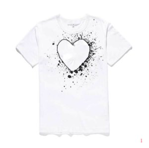 Men Designer T Shirt Fashion Summer New Brand Tshirts Luxury Tshirt Short Sleeve Tees Heart Print Funny Top Tees28 LR200537