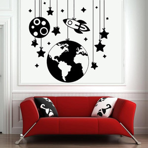 Lovely Starball Ship Wallstickers Wall Decal Sticker Home Decor Decor Living Room Bedroom Removable Wall Decoration Murals