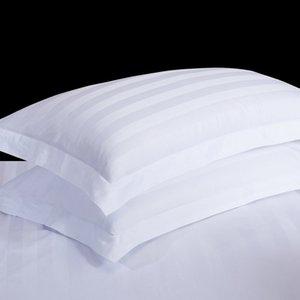 1 par White Hotel fronha 40s alta qualidade 100% cetim de algodão macio Bed fronha 50x80 / 58x88 / 60x90cm para casa