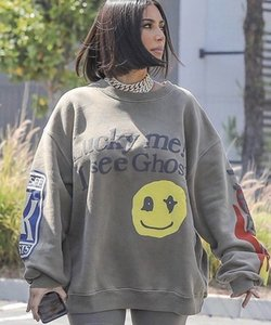 Mousse 3d Kanye West Lucky Me i Voir Ghosts Sweat Hommes Femmes Coton Mode Casual hiver Smiley Sweat visage