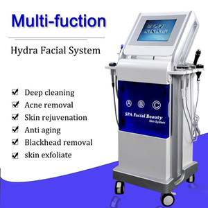 9 IN 1 Hydro Facial Machine Hydro Peel Dermabrasion Microdermabrasion Ultrasonic Skin Scrubber Oxygen Facial Spray Hydrofacial Machine