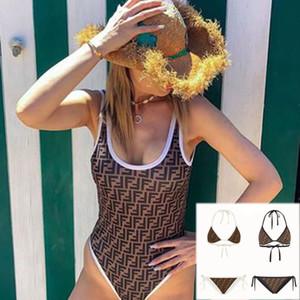 Lady Seksi Bikini Moda Marka mayolar Tasarımcı Mayo Kadınlar One Piece Yıkanma Suits parça bikini Kız Plaj Sexi En Kaliteli 20032708L