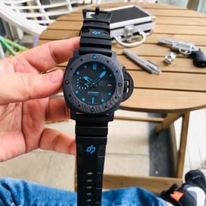 슈퍼 발광 9010Movement 시계 orologio 디 러스와 VS 팸 - 1616 MONTRE DE 럭스의 47mm 탄소 섬유 시계 케이스 다이브 카운트 다운 시계 반지