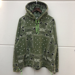 Vert Gris EN STOCK Floral impression Sweat à capuche de haute qualité Coton Hip Hop Sweat à capuche