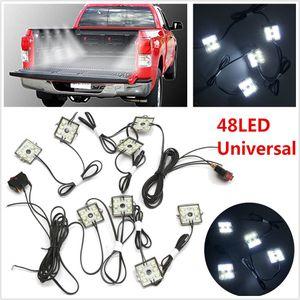 8pc Ladeflächen-weiße LED Beleuchtung 48LED Licht Kit für Chevy Pickup Dodge-GMC Trucks Kostenloser Versand
