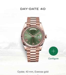 Tag Datum New Uhr-Mann-Daydate Saphirglas Goldenen Weiß Uhrkrone Automatische römische Zahl Präsident Uhren Orologio