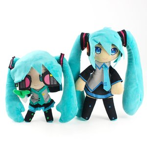 24cm--30cm Anime Hatsune Miku Plsh Toy Hatsune Miku VOCALOID Series Snow Stuffed Soft Plush Doll Toys