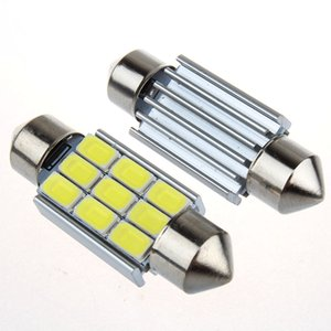 10pcs Super Power 5630 5730 SMD CANBUS Festoon Dôme C5W 6418 ERREUR LIBRE Auto Voiture Ampoule LED Lecture Blanc Pur 31/36/39 / 42mm 12V