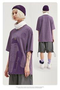 Lüks Tasarımcı inf erkekler yeni Avrupa ve Amerikan ilginç soyut figür baskı looseds10 kişiselleştirilmiş 2020 ilkbahar / yaz giyim