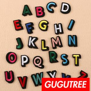 GUGUTREE one set iron on bordy letter parches insignia parche Aplique parche, camiseta, gorra, bolsos, suéter, mochila SP-447