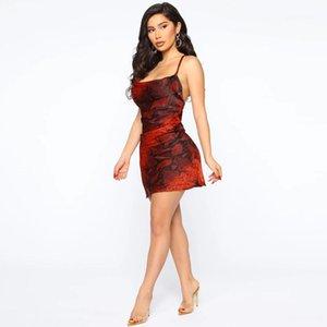 Motif Robes Sexy V Neck Dress Fashion couleur unie manches femme moulante robes femmes serpent Designer