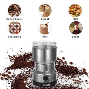 SEAAN 커피 분쇄기 전기 미니 커피 콩 너트 그라인더 커피 콩 다기능 홈 커피 기계 주방 도구 EU 플러그