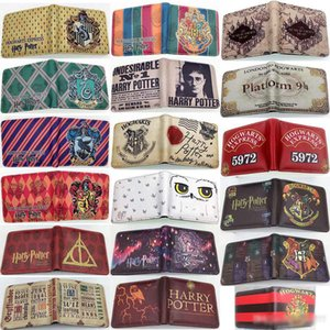 Carteiras dos homens de Harry Potter Marca de Luxo RFID Bifold Carteira Zipper Coin Purse Business Card Holder Carteira