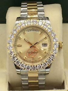 las mujeres automáticas 2020 la moda del reloj de oro de acero de 40 mm de 18 quilates Stanless reloj de diamantes 2813 movimiento mecánico hacia fuera helado relojes para mujer del reloj de señora