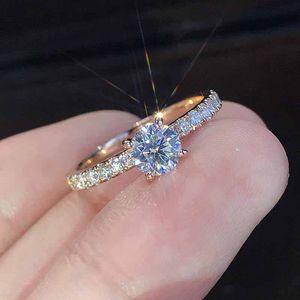 anéis de noivado anel de ouro rosa de cristal de diamante para o designer mulheres luxo de jóias mulheres anéis jóias anéis de casamento conjuntos de moda