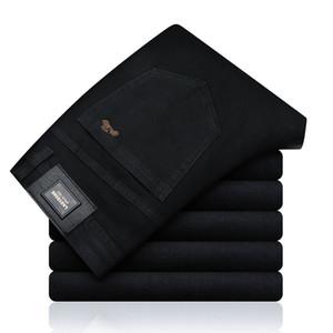 2019 новая осень весна джинсы мужские брендовая одежда черные средние джинсовые брюки мужские брюки качества Y19060501