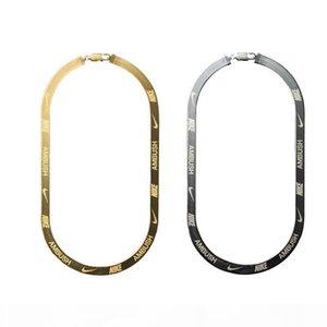 EMBOSCADA X gancho HERRINGBONE logotipo de metal collar de cadena cinturones de pulsera mujeres de los hombres de Hip Hop de la calle al aire libre Accesorios regalo del festival del envío gratis
