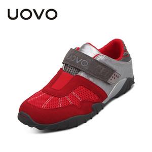 Uovo Küçük Çocuklar Için Çocuk Yarış Tarzı Nefes Çocuklar Sneakers Sonbahar Ayakkabı # 29-34 Y190525