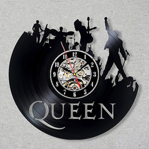 Queen Rock Band Wall Clock Modern Design Music Theme Classic Vinyl Record Clocks Wall Watch Art Home Decor Gifts for Musician Y200109