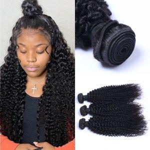 3 Bundles Kinky Curly Human Hair Weft Extensions Unprocessed Brazilian Hair Weave Bundles for Black Women