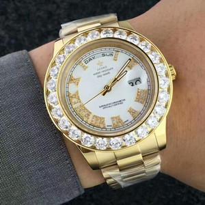 Hot Relógios Homens Diamantes Relógio De Ouro Dos Homens Marca À Prova D 'Água de Quartzo Relógio de Pulso Top Data de Luxo Luminous Hands Clock 2019 Moda MX190724