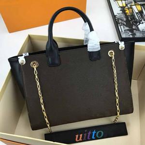 M511443 Designer-Handtaschen echte Handtasche Blumenmuster Kette Designer Luxus-Leder-L-Shopping Geldbörsen Tasche verpassen