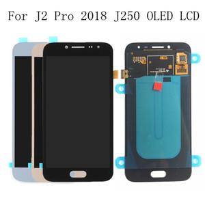Samsung Galaxy Için süper Amoled LCD J2 pro 2018 J250 J250F J250H J2 PRO 2018 başına LCD Dokunmatik Ekran Digitizer Meclisi LCD