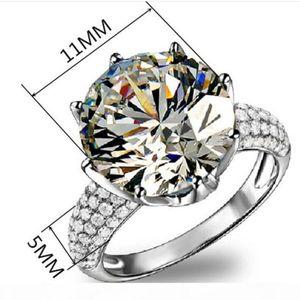 Alta USpecial 2,019 Plata BFQ nuevo de la manera S925 anillo de diamante de Corea versión de circón de boda anillo de la corona circones joyería libre