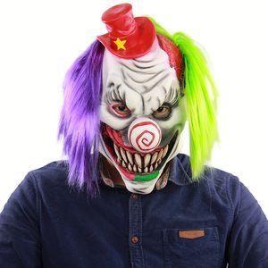 Nuevo Hot Adult Party Mask Horror Red Hat Payaso Máscara Fiesta de Halloween Disfraz Dress Up Latex Horror