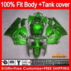 Injeção para a Kawasaki ZX 12R ZX1200 1200cc ZX12R verde brilhante 02 03 04 05 06 52HC.57 ZX 12 R ZX12R 2002 2003 2004 2005 2006 OEM carenagens