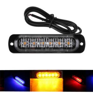 Strobe Marker 1pc 6 dell'automobile LED del camion laterale luce ambra LED lampeggiante di pericolo d'avvertimento di emergenza della lampada Lightbar DC12V 24V