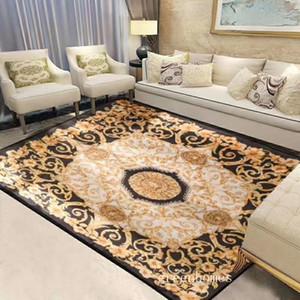 Criativa Quarto retangular Tapete 140 * 190 centímetros Retro Carta Moda Thick macio tapete Tapete Deusa de Ouro Imprimir Carpet