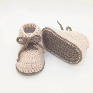QYFLYXUEBaby Gift Neonatal Knitted Baby Shoes, Garden Strap Shoes, High-Help Baby Cotton Thread Baby Shoes