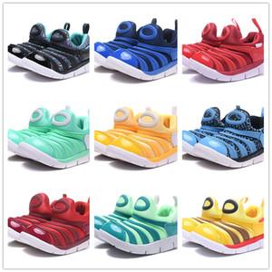 2019 crianças lagartas verdes tênis de corrida meninos azul tênis meninas amarelo sapatos de caminhada crianças formadores vermelho ue tamanho 22-35 scarpe bambini