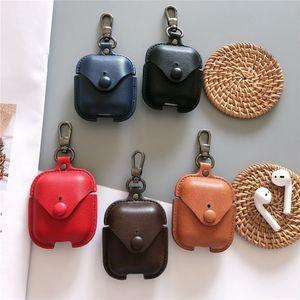 Für Apple AirPods 2 1 Ladeschachtel Schutzhülle Luxus Leder Bluetooth Wireless Kopfhörer Hülle Für AirPods