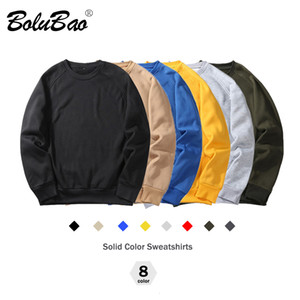 BOLUBAO Brand Men Casual Hoodies Sweatshirt New Spring Solid Color Polyester Pullover Warm Hoodie Male EU Size MX191113