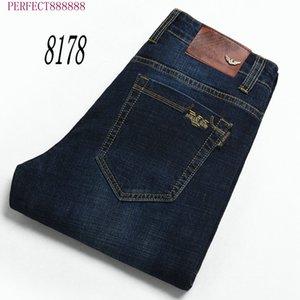 8178 HF SFSE AJ-JEANS Primavera Outono Calças exteriores grossas calças calças jeans stretch calças de algodão casuais negócios folgas