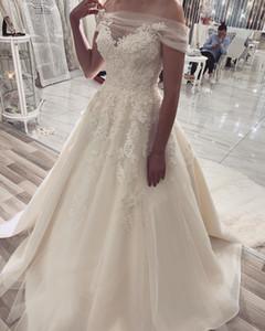 2020 Plus Size Arabic Aso Ebi Vintage Cheap Lace Beach Wedding Dresses Bateau Beaded Bridal Dresses A-line Tulle Wedding Gowns ZJ204