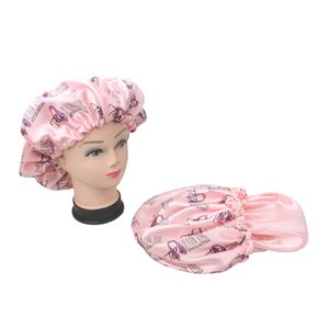 Custom Full monogramm logo printing 2 layer hair satin silk cap bonnet for protecting virgin hair extensions wigs private name